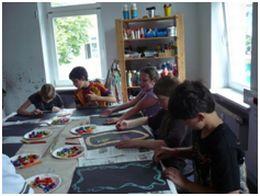 """""""Mein Bild steht Kopf"""" - Malen wie der Künstler Georg Baselitz in der Jugendkunstschule."""
